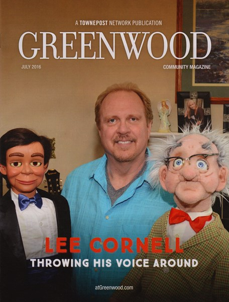 On the cover of Greenwood Magazine