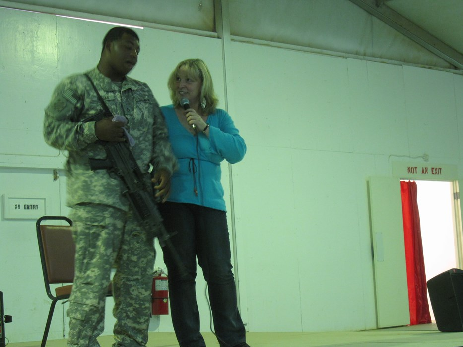 Perfoming for U.S. troops in Iraq