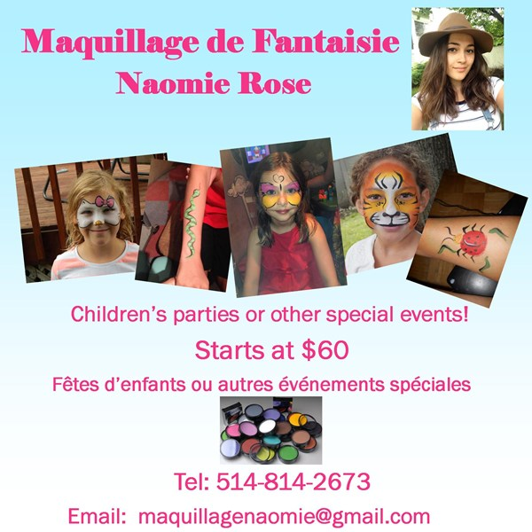 Naomie Rose - Face Painter - Montreal, QC