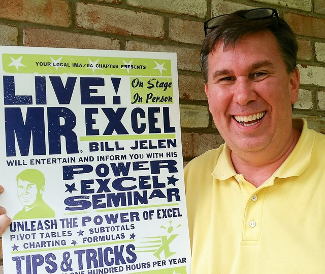 Bill Jelen and the Hatch poster