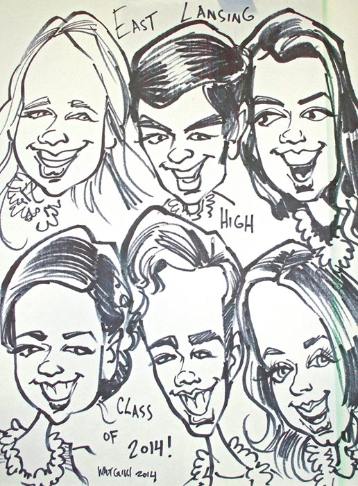 Group caricatures sketched  !