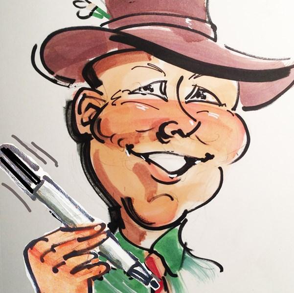 David Delano, Caricaturist