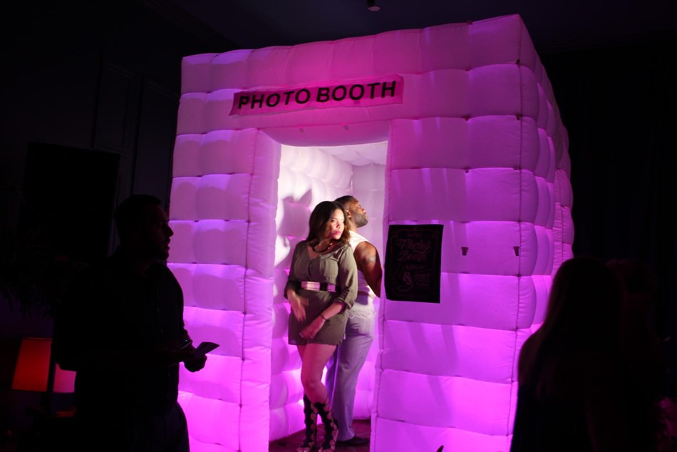 White LED Lit Photo Booth