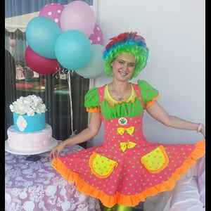 Van Nuys, CA Clown | Kate - The Barbe Clown, Princess, Mini Mouse, Elsa