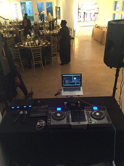 Set-Up for Wedding Reception