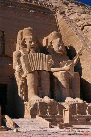 Even King Tut likes accordion music
