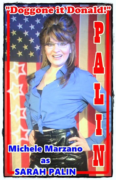 "Michele as PALIN ""Stumping 4 Trump"""