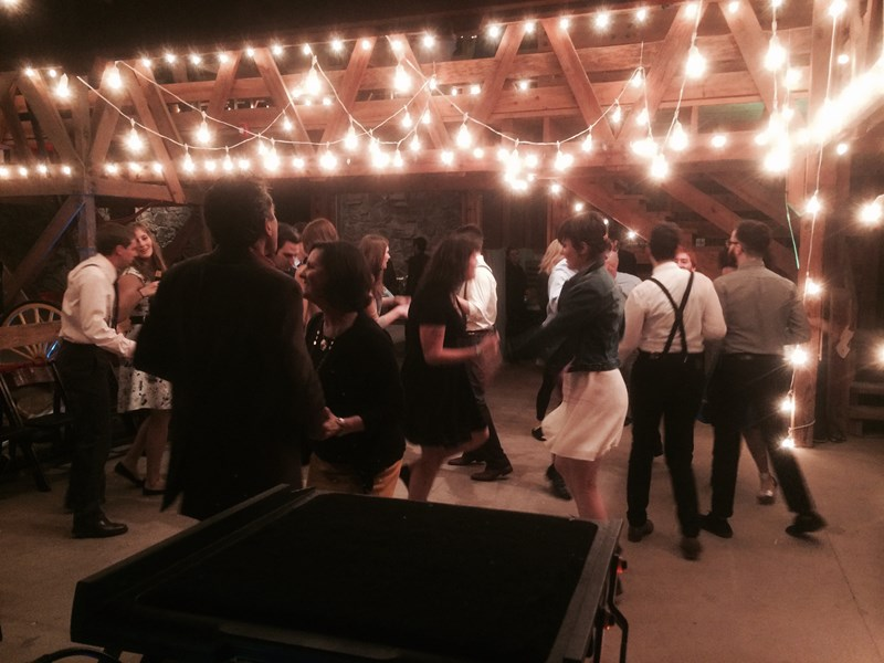 Full dance floor at Harn Homestead!