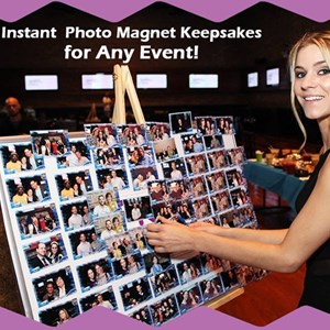 Birch Tree Green Screen Rental | On the Spot Photo Magnets
