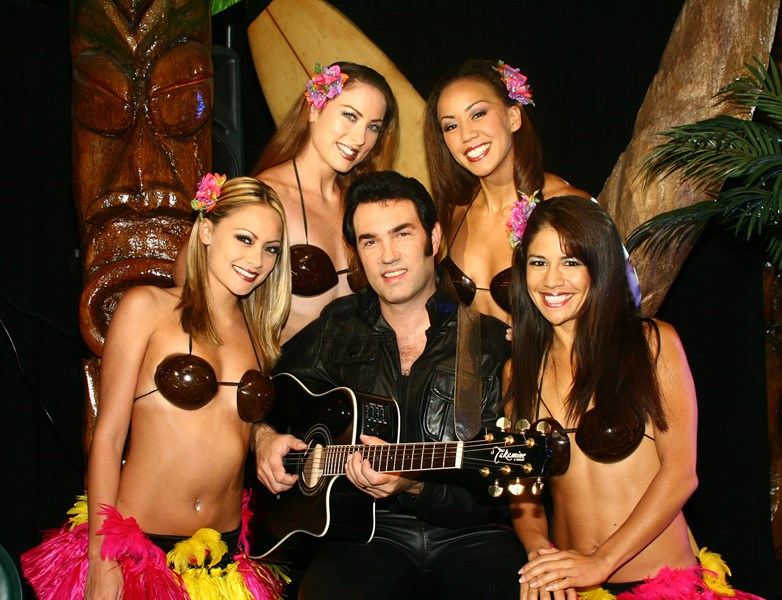 Ron with Blue Hawaii Dancers