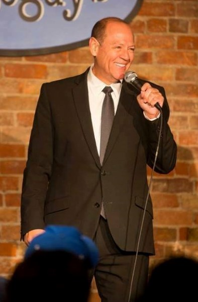 Comedian Keith Stubbs on stage