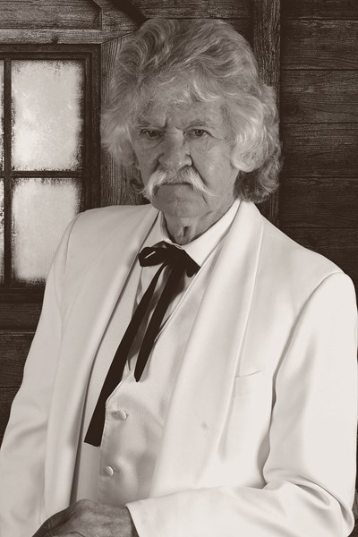 Curtis O'Dell as Mark Twain - Mark Twain Impersonator - Hodgenville, KY
