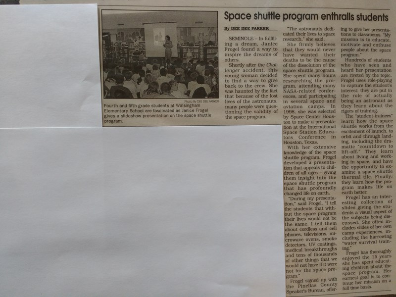 Seminole Beacon Newspaper article