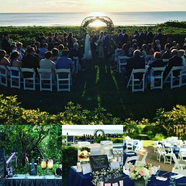 Wedding celebration at Naples, FL