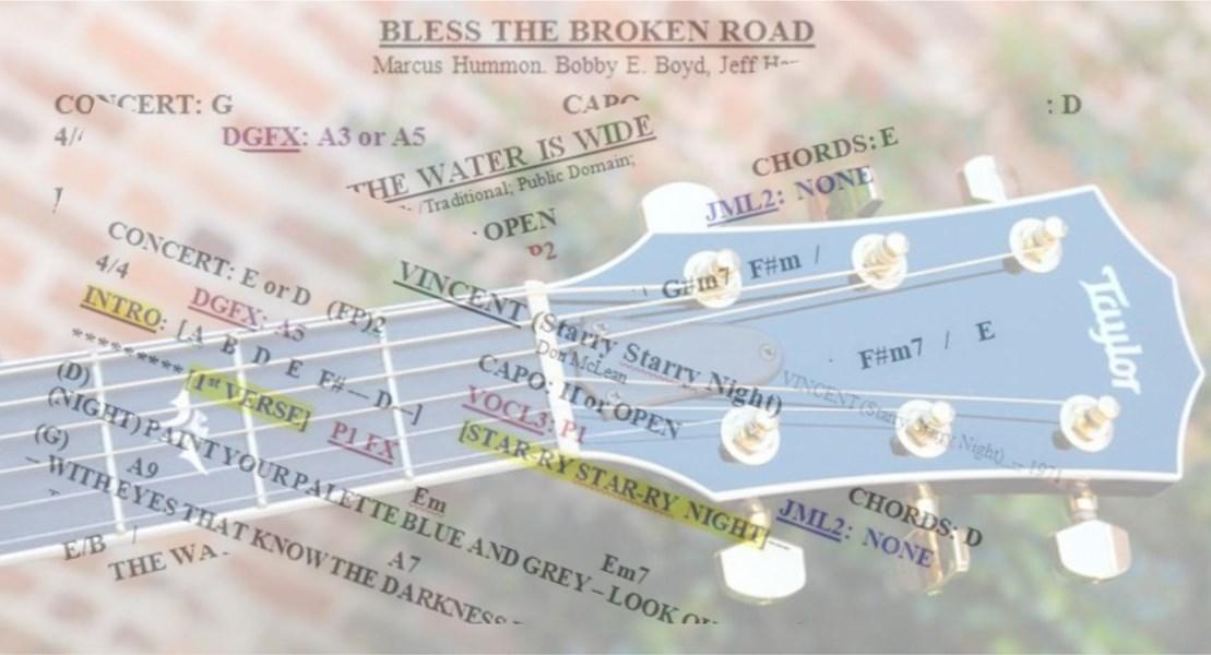 Fantastic Bless The Broken Road Piano Chords Illustration Beginner