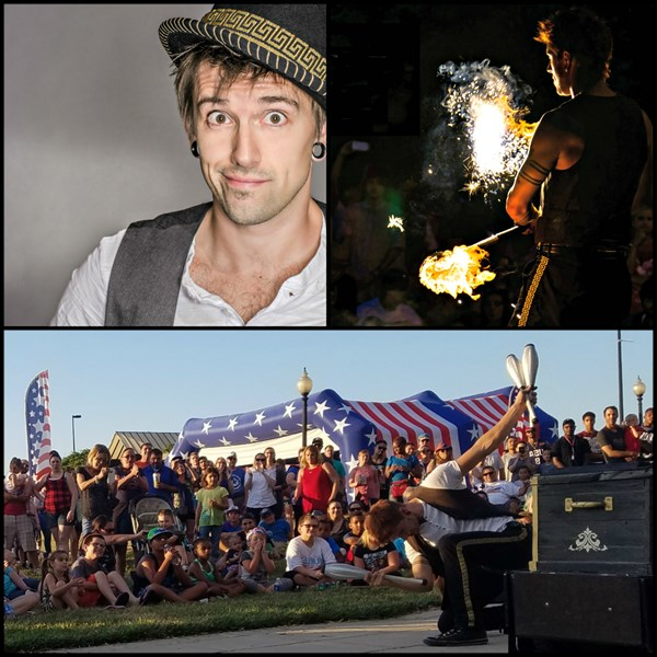 Jason D'Vaude - Vaudeville and Fire Shows - Juggler - Kansas City, MO