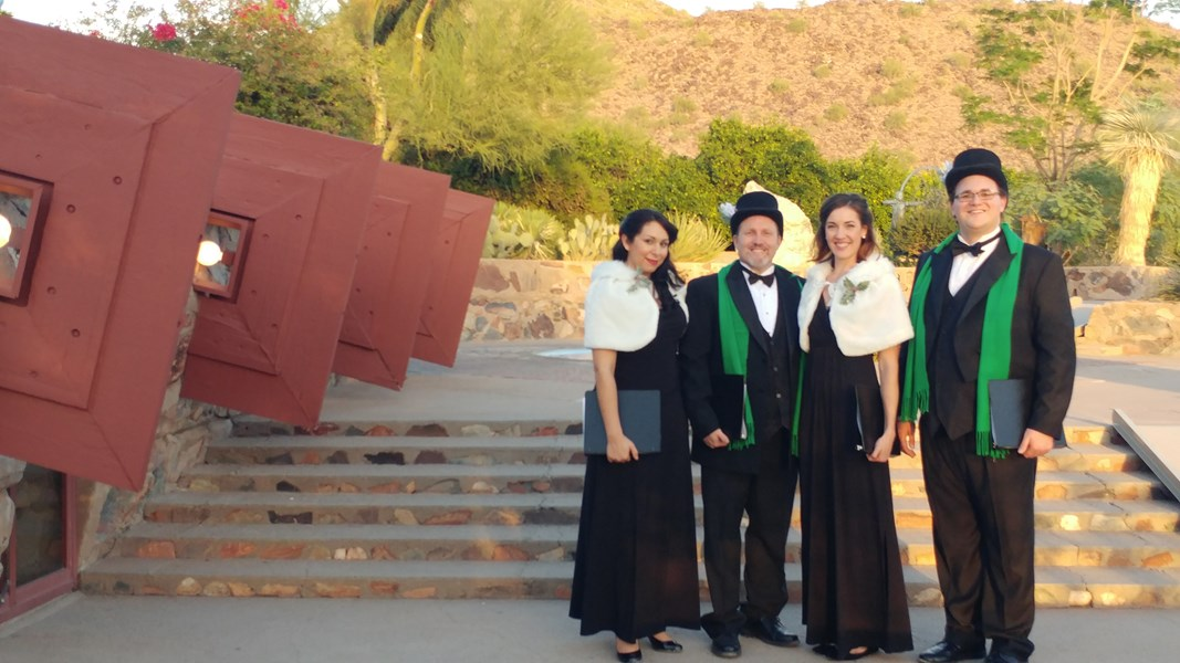 King's Carolers at Taliesin West!