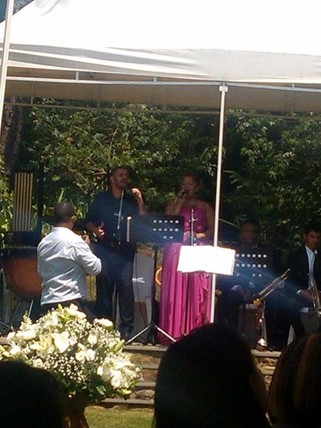 Singing in a wedding