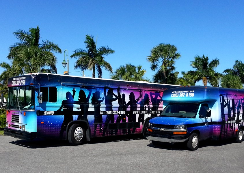 Elite Ultra Bus and Pink Hummer Limo - Party Bus - Fort Lauderdale, FL