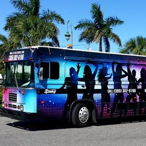 West Palm Beach Party Limo | Elite Ultra Bus and Pink Hummer Limo
