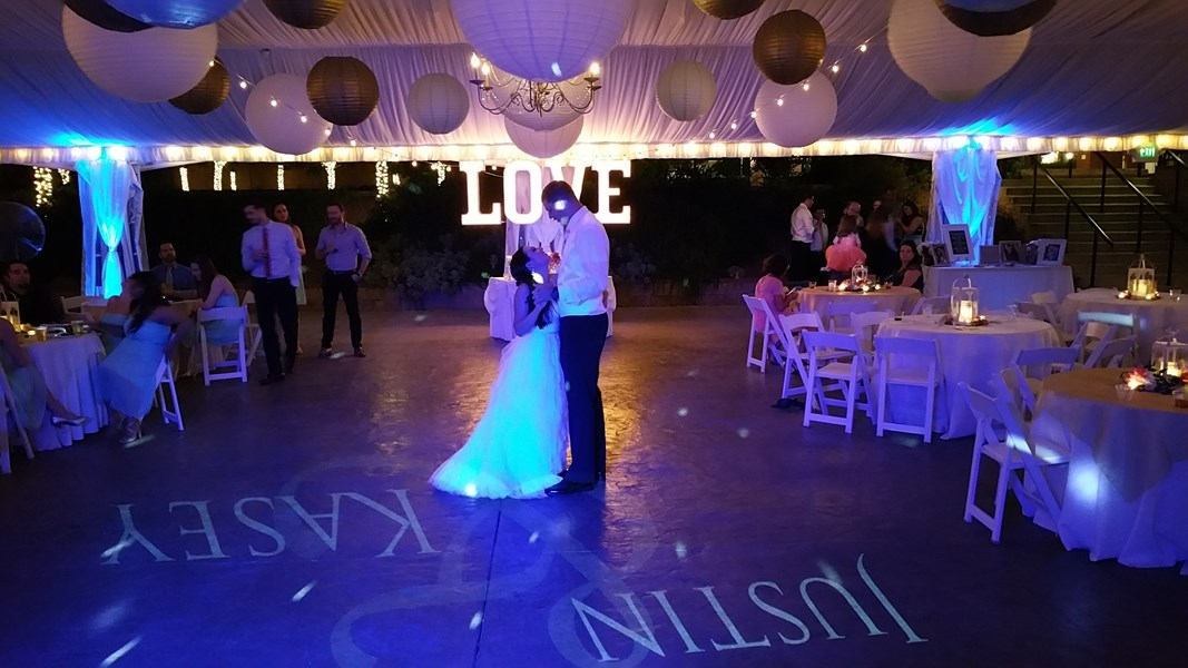 First dance with custom monogram