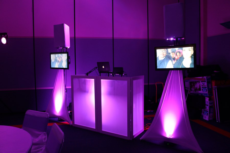 LED Uplighted DJ Booth