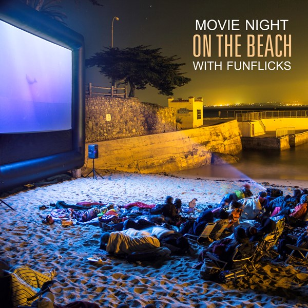 Outdoor Movie on the beach