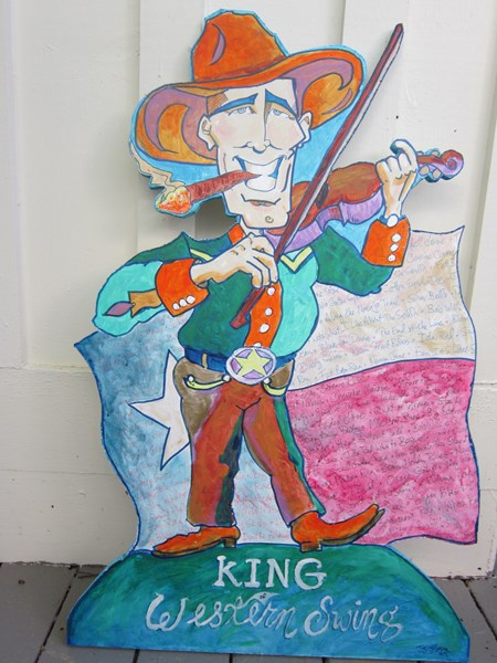 Bob Wills: Caricature cut-out