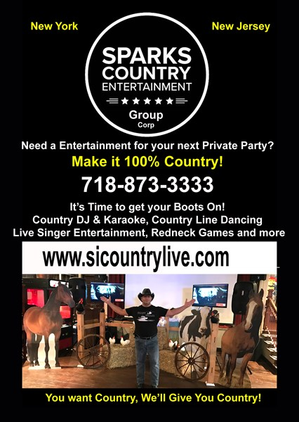 Sparks Country Entertainment DJ/VJ/Live - Event DJ - Staten Island, NY