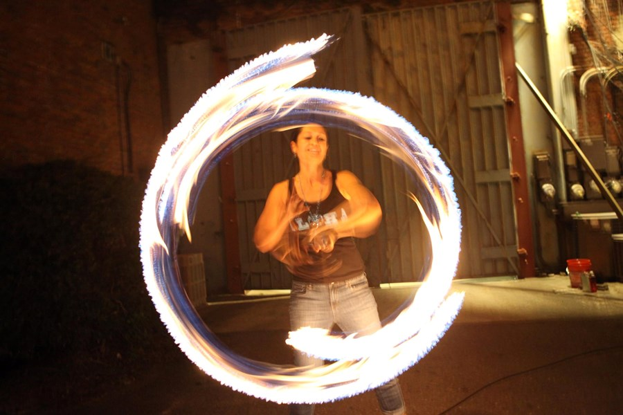 FIRE POI AND FIRE STAFF DANCER RIKA