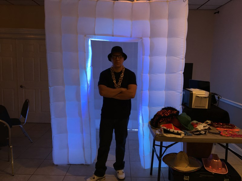 Lighted photo booths and props