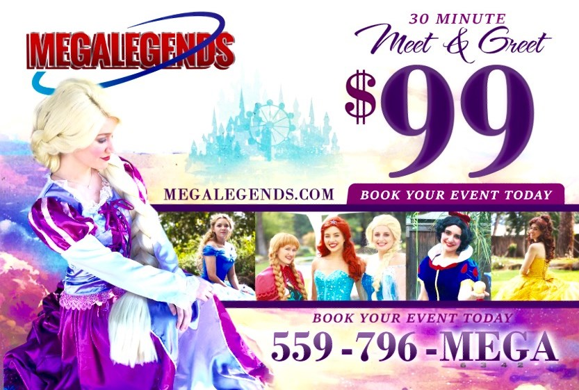 Mega Legends - Live Character Entertainment - Costumed Character - Fresno, CA