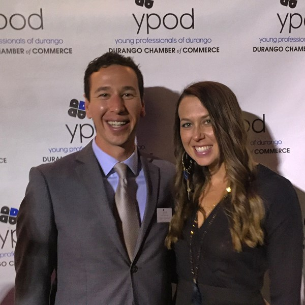 My wife and I attending YPOD's gala