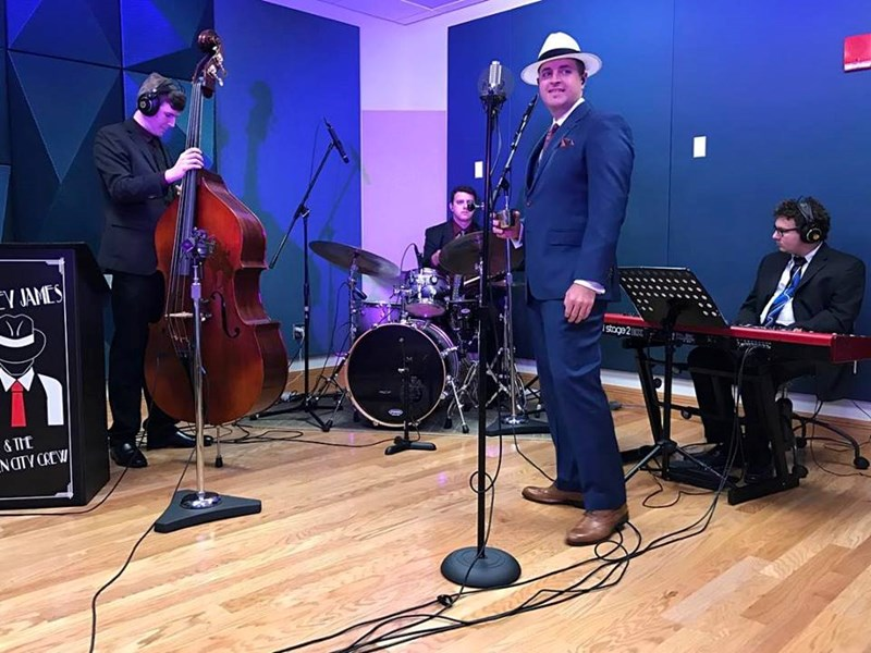 Mickey James Quartet in the studio