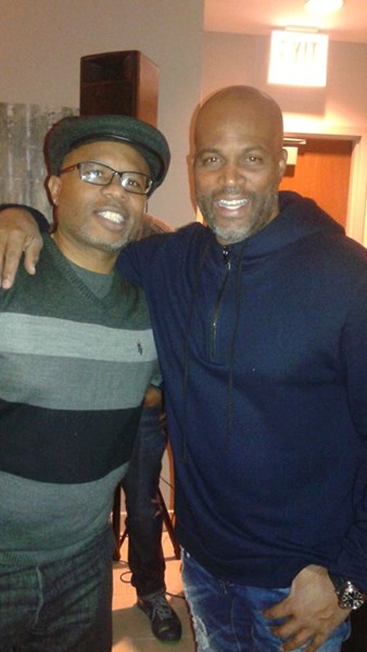 Me and Comedian Chris Spencer