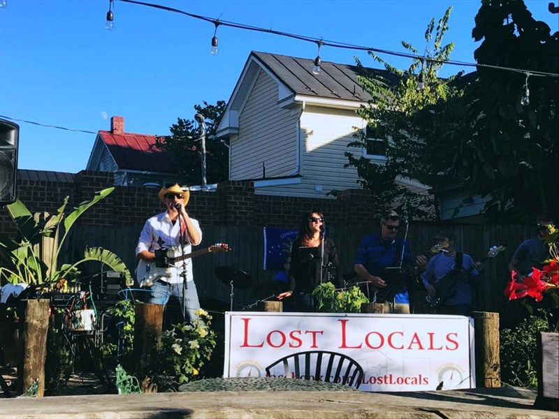 Dave performing with Lost Locals