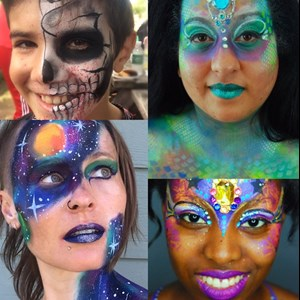 New York City, NY Face Painter | Island Girl Face Art + Balloons & Tarot