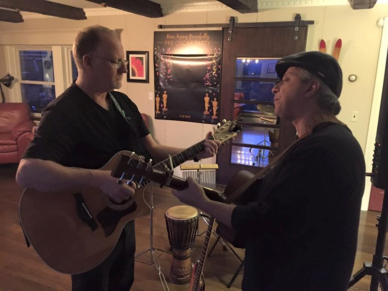 Peter Lawlor with Neal Zweig on lead guitar - Acoustic Duo - Exeter, NH