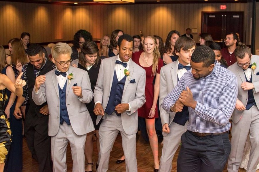 Groomsmen Dancing at Double Tree!