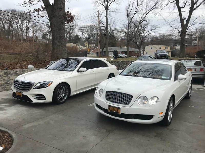 Our Bentley and 2018 Mercedes