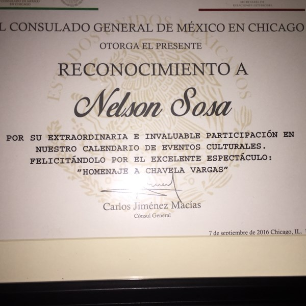 Recognition by Consulate of Mexico