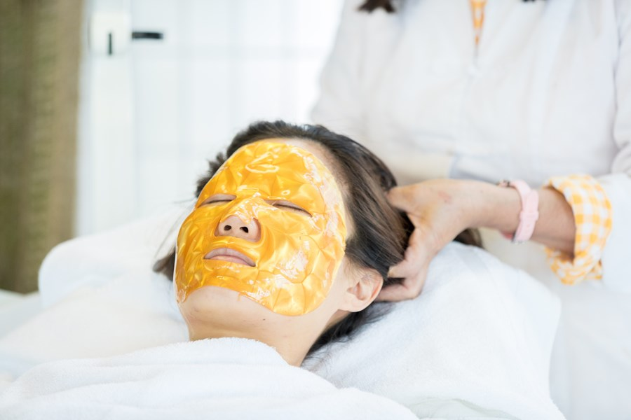 Our 24K gold mask facial