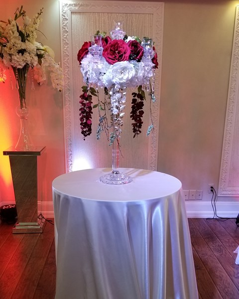 Pin Spot Lighting for Centerpieces