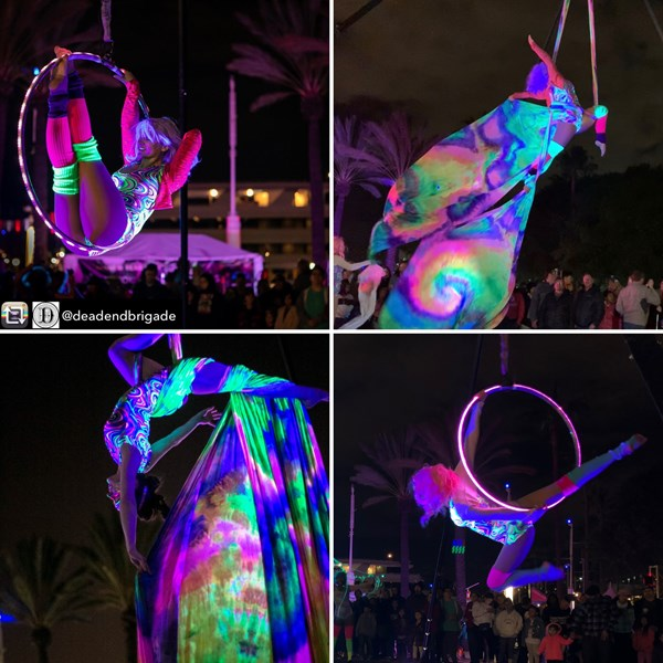 LED glow in the dark Aerial show