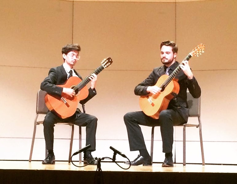 Performing a duet at VCU