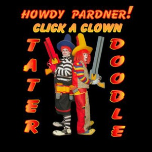 Coffee Costumed Character | Tater The Clown And Doodle The Clown