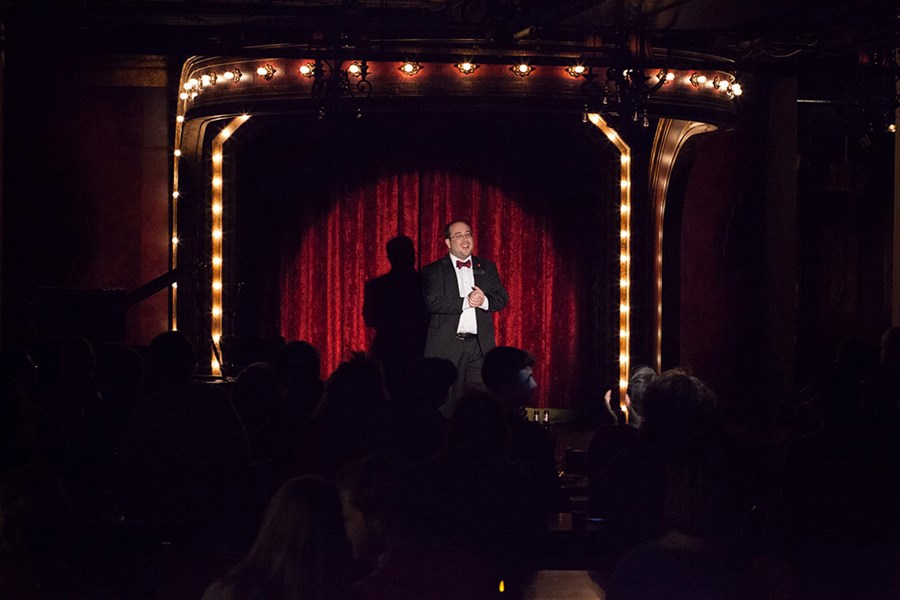 Onstage at the Chicago Magic Lounge