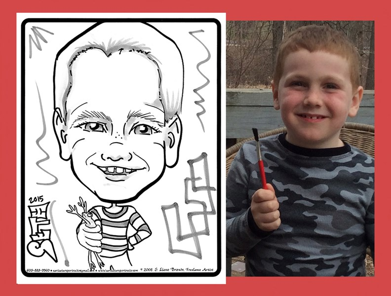Live B&W Caricature Drawing