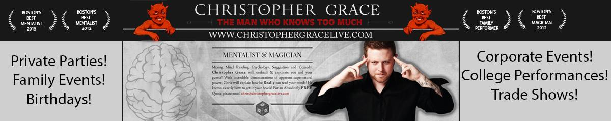 Boston Magician & Mentalist Christopher Grace