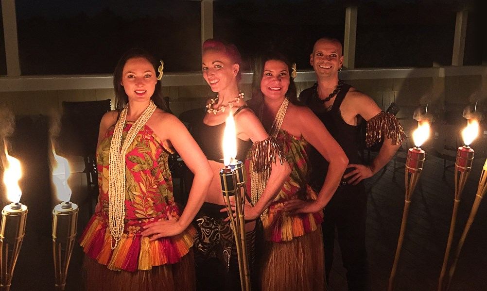 Hula and Fire dance combo show!